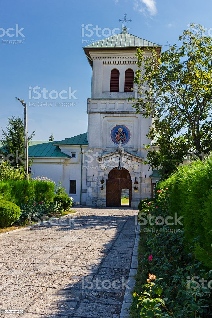 Dealul monastery in Dambovita county, Romania stock photo