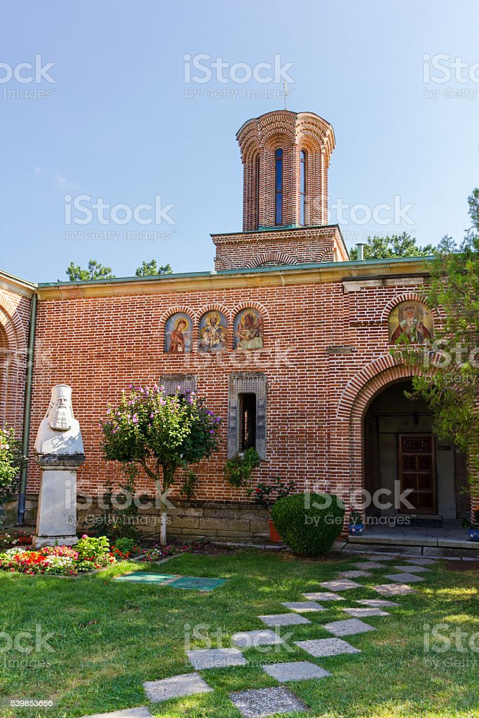 Dealul monastery in Dambovita county Romania stock photo
