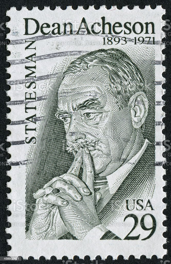 Dean Acheson Stamp stock photo