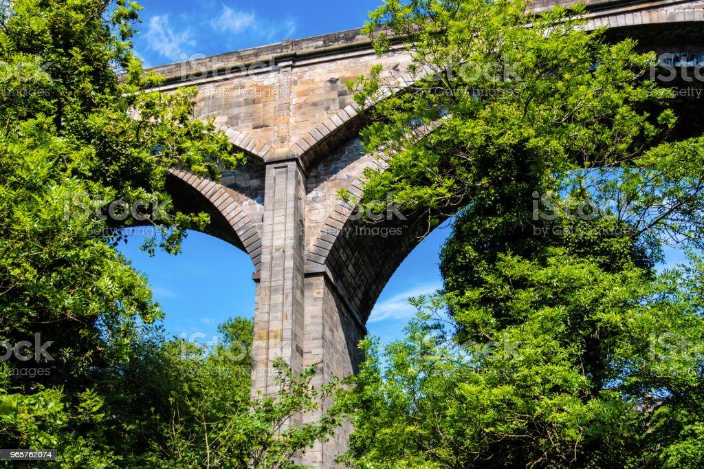Dean bridge, Edinburgh, VK. - Royalty-free Antiek - Toestand Stockfoto