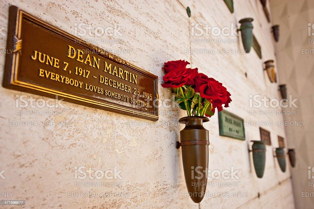 Dean Martin Grave,  Los Angeles stock photo