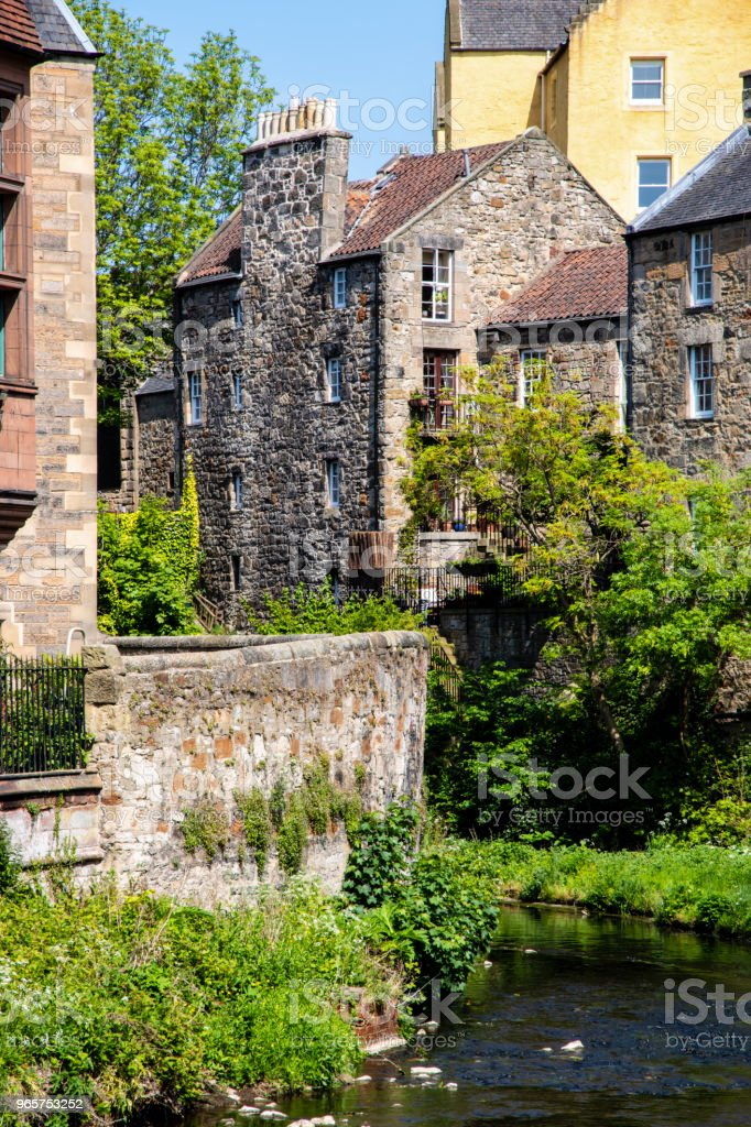 Dean village, Edinburgh, VK. - Royalty-free Antiek - Toestand Stockfoto