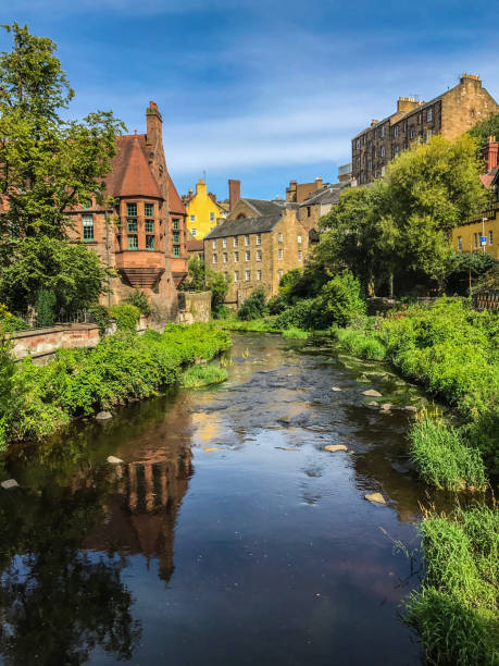 Dean Village Water of Leith 2 stock photo
