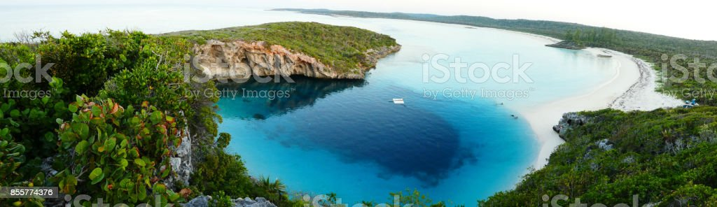 Dean's Blue Hole stock photo