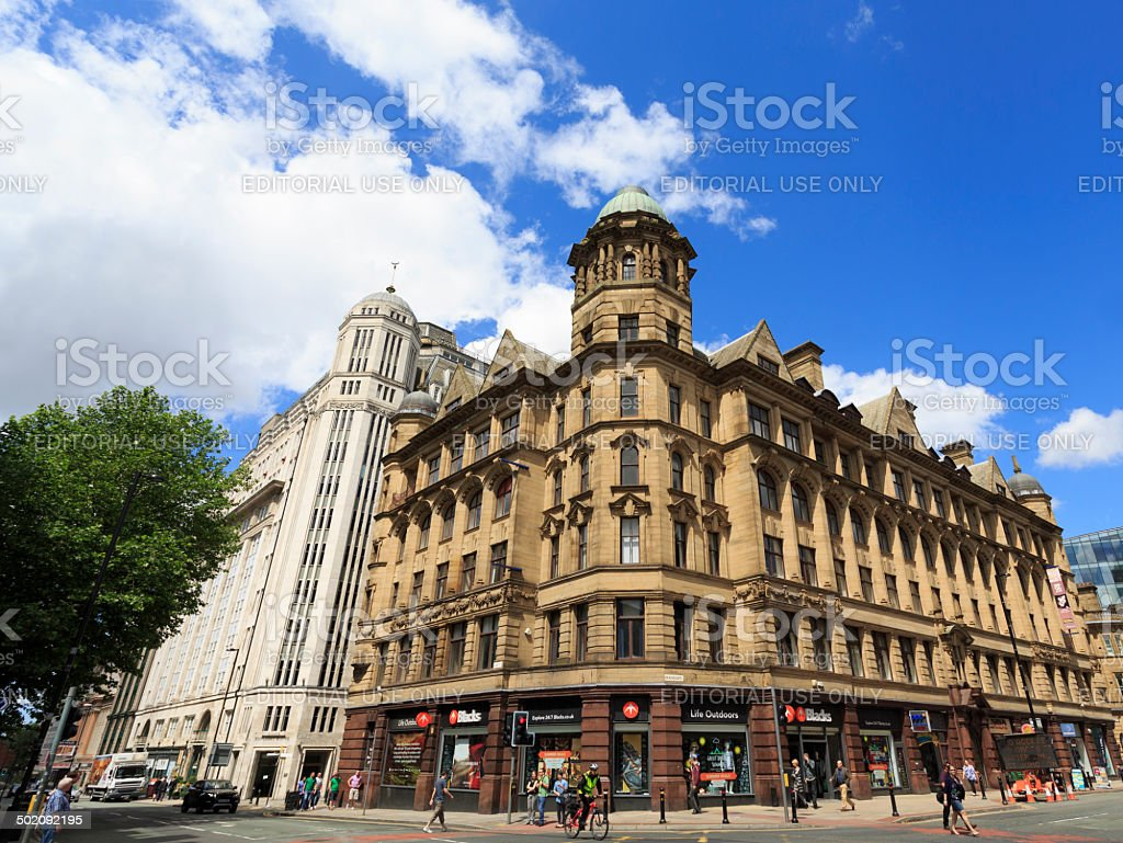 Deansgate in Manchester stock photo