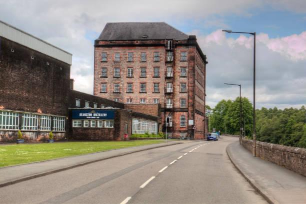 Deanston distillery stock photo