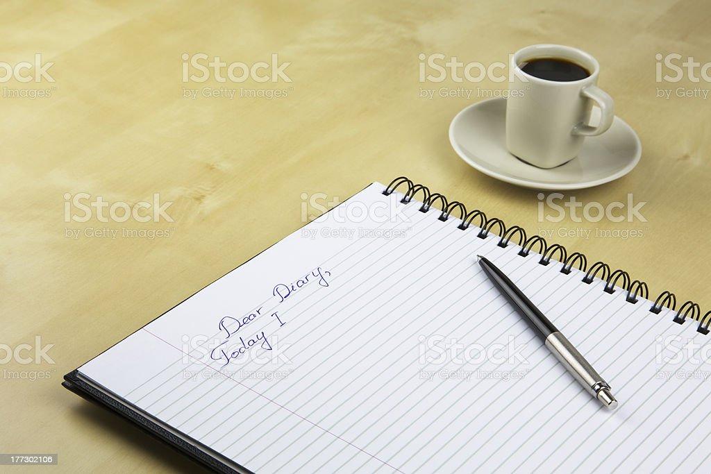 Dear Diary royalty-free stock photo
