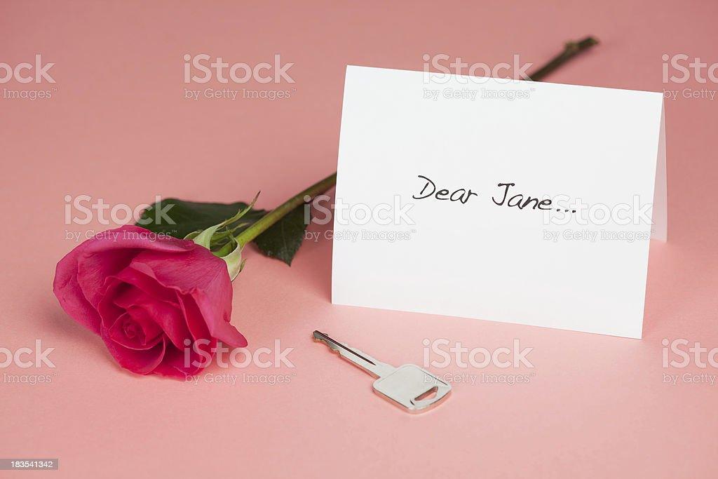 Dear Jane Note stock photo