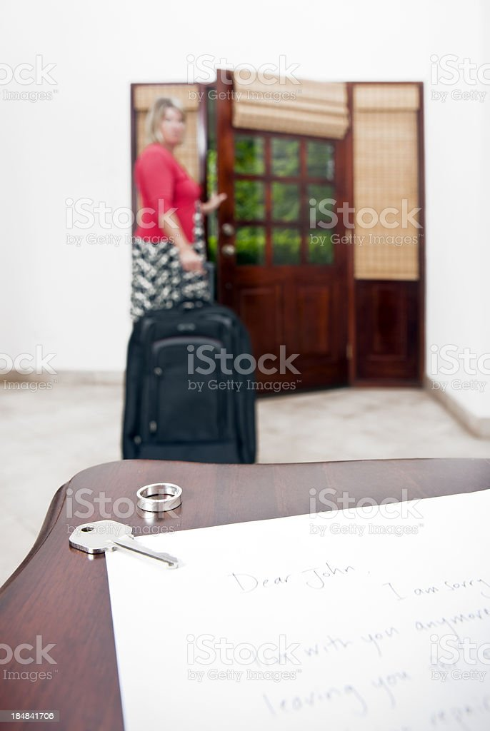Dear John letter stock photo