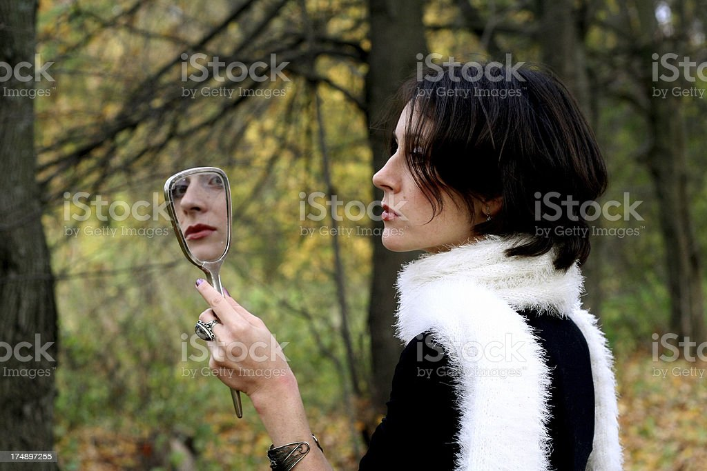 dear mirror tell me who is nicest in the world royalty-free stock photo