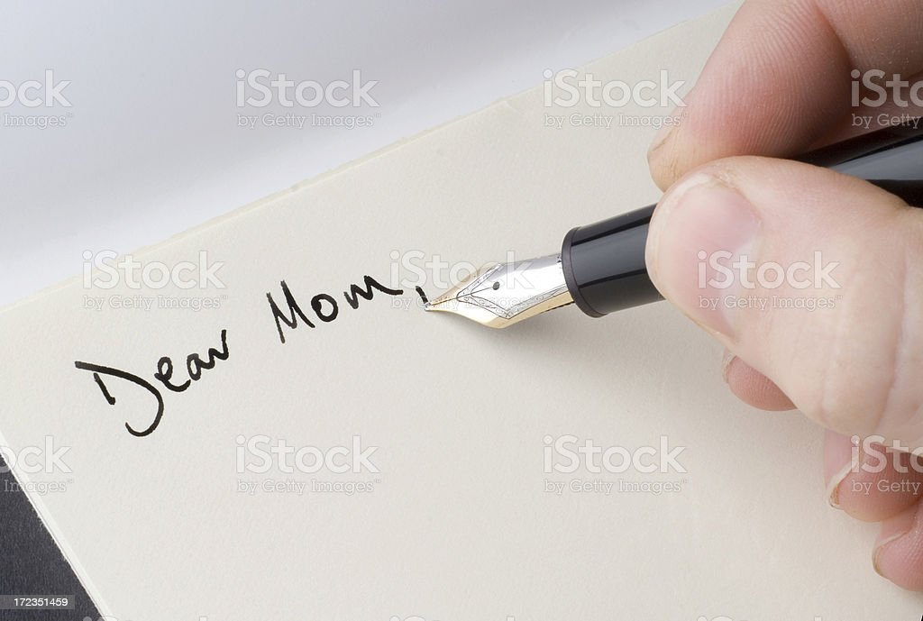 Dear Mom - Letter Head royalty-free stock photo