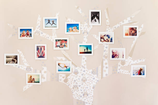 Dear photographs hanged on the wall - foto stock