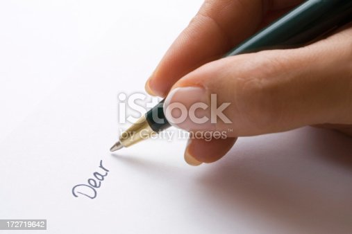 'Dear' handwritten on paper. Similar images from my portfolio: