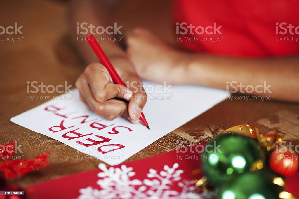 Dear Santa. stock photo