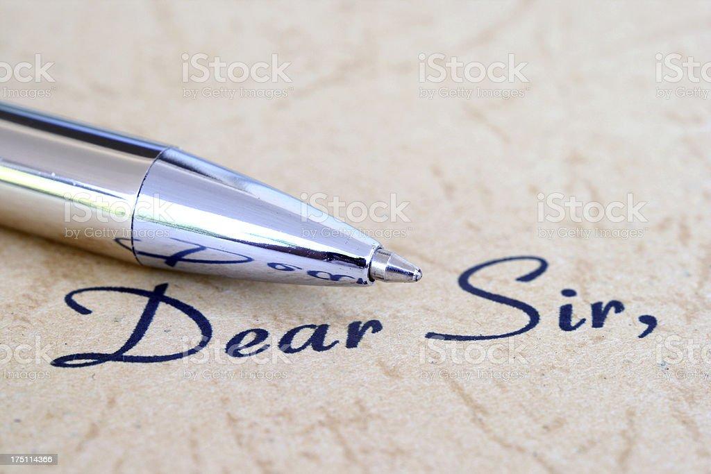 Dear sir royalty-free stock photo