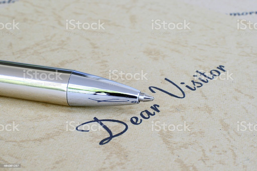 Dear visitor royalty-free stock photo