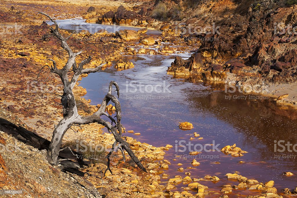 death and desolation in the Tinto River royalty-free stock photo