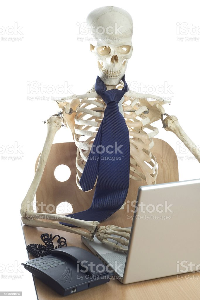 Death by Overwork 2 royalty-free stock photo