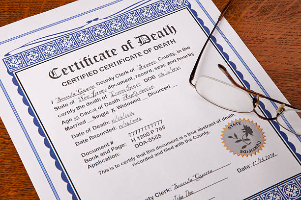 Royalty free death certificate pictures images and stock photos death certificate with fake names and information stock photo yadclub