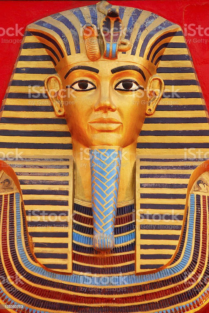 Death mask of Tutankhamun royalty-free stock photo