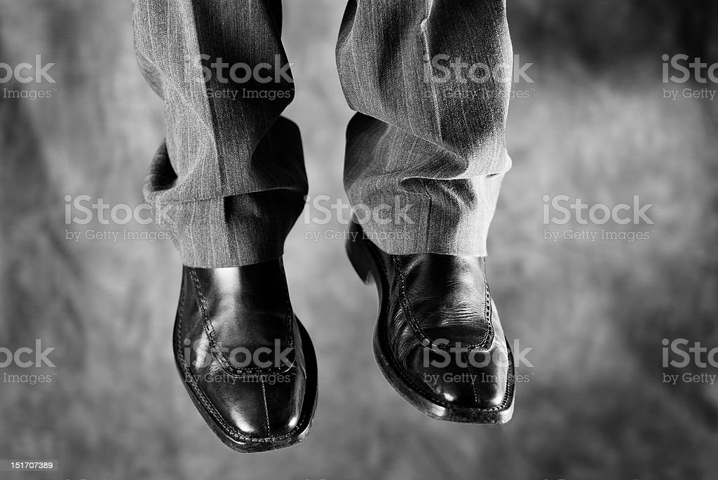 Death of a salesman (that is, businessman) stock photo