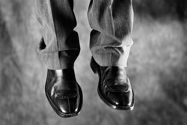 death of a salesman (that is, businessman) - noose stock photos and pictures