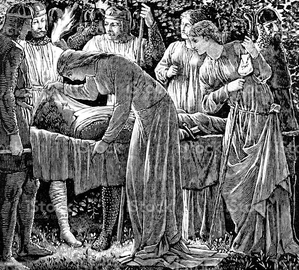 Death of The Pilgrim stock photo