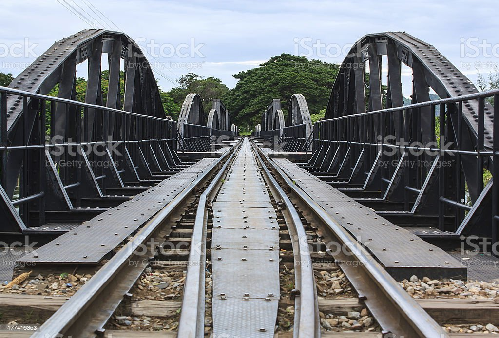 death railway bridge stock photo
