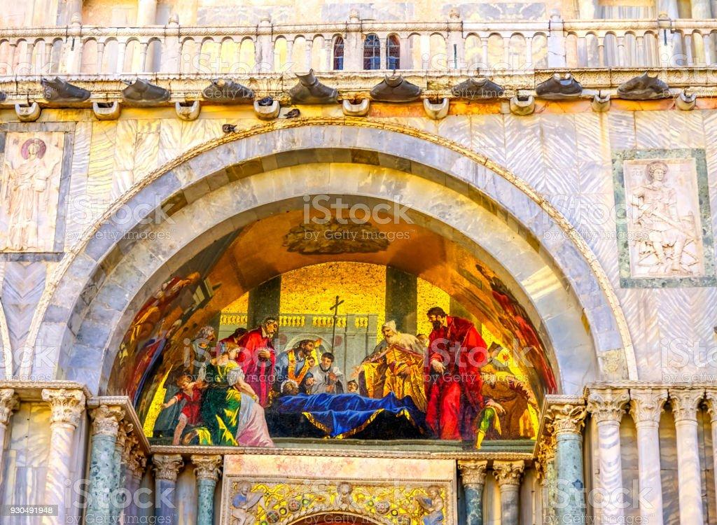 Iglesia Venecia Italia Muerte San Marcos Evangelista Mosaico San ...