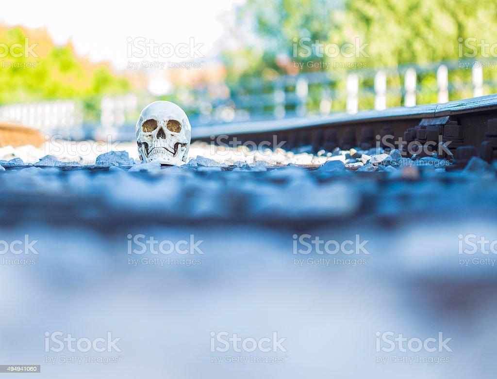 Death sceene stock photo