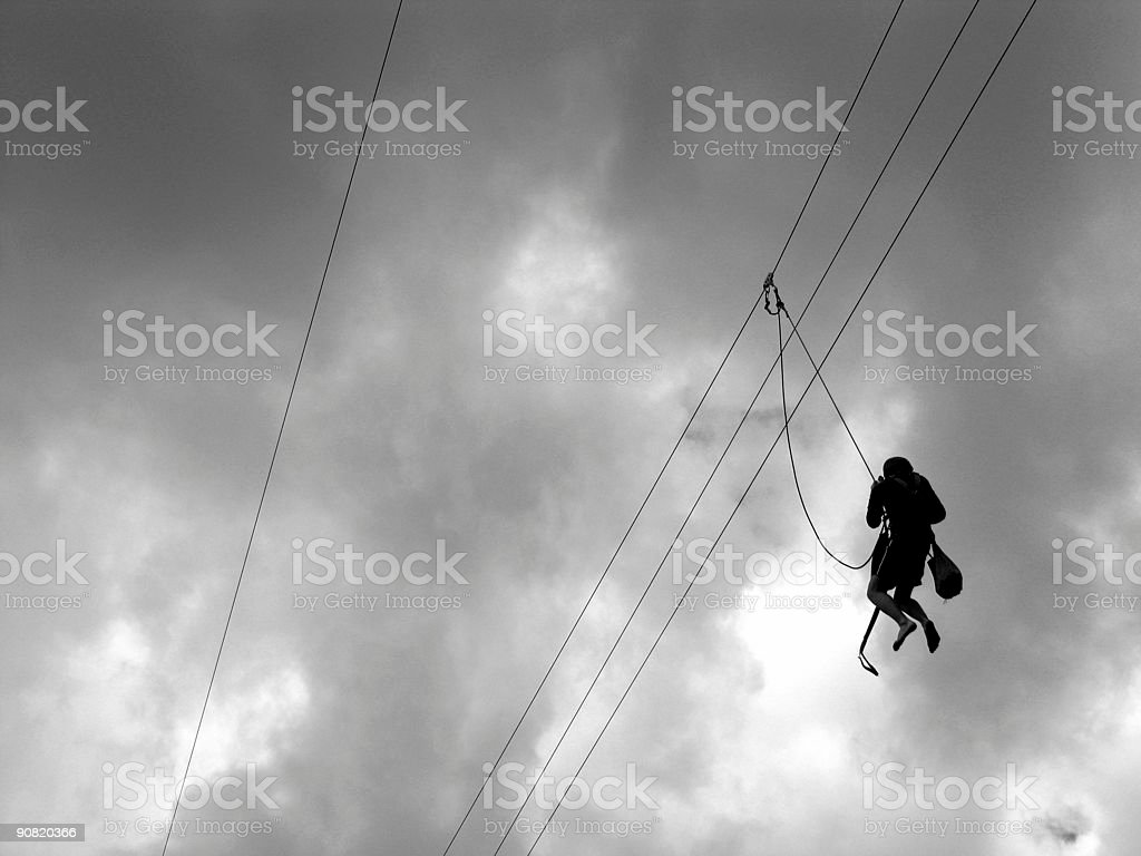 Death slide for one... royalty-free stock photo