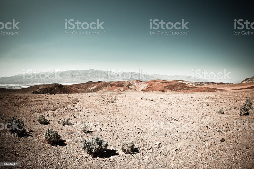 Death Valley Arid Landscape in California stock photo