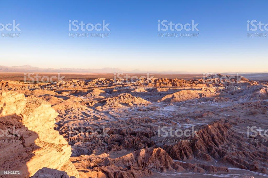 Death Valley at Sunset - Atacama Desert, Chile royalty-free stock photo