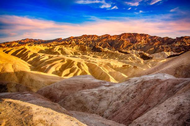 Death Valley Badlands stock photo