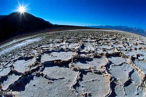 Bad Water area salt formations in Death Valley California