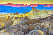 Zabriskie Point in Death Valley California