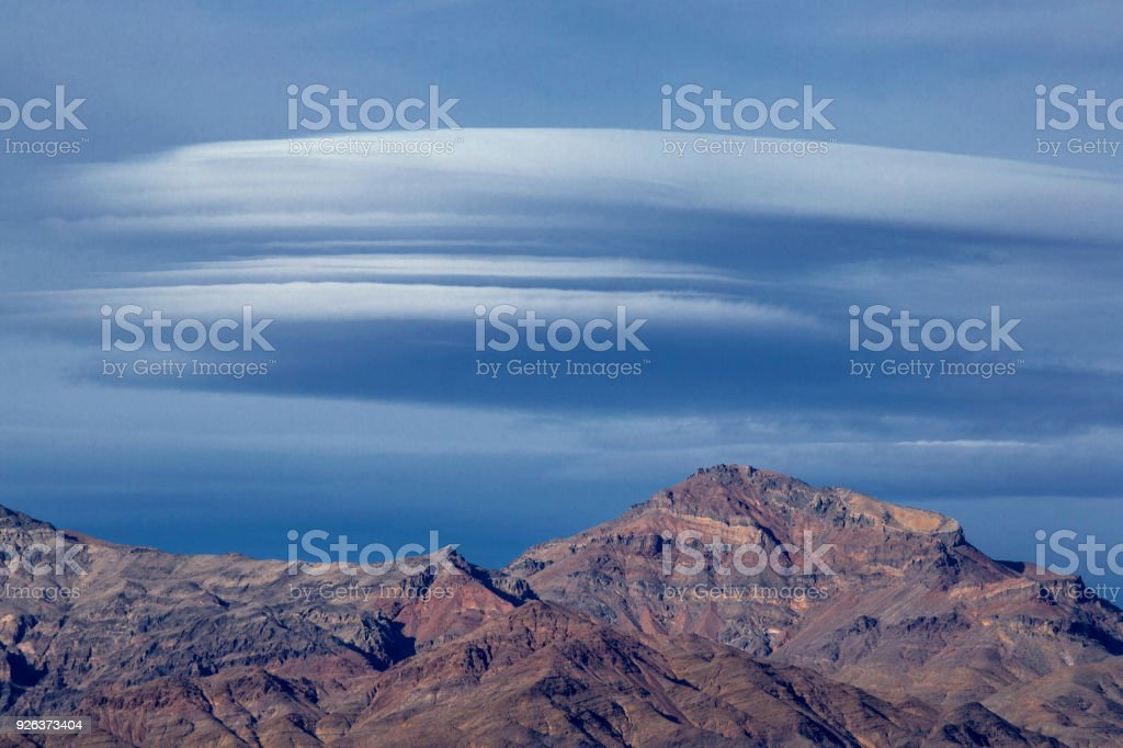 Death Valley Clouds stock photo