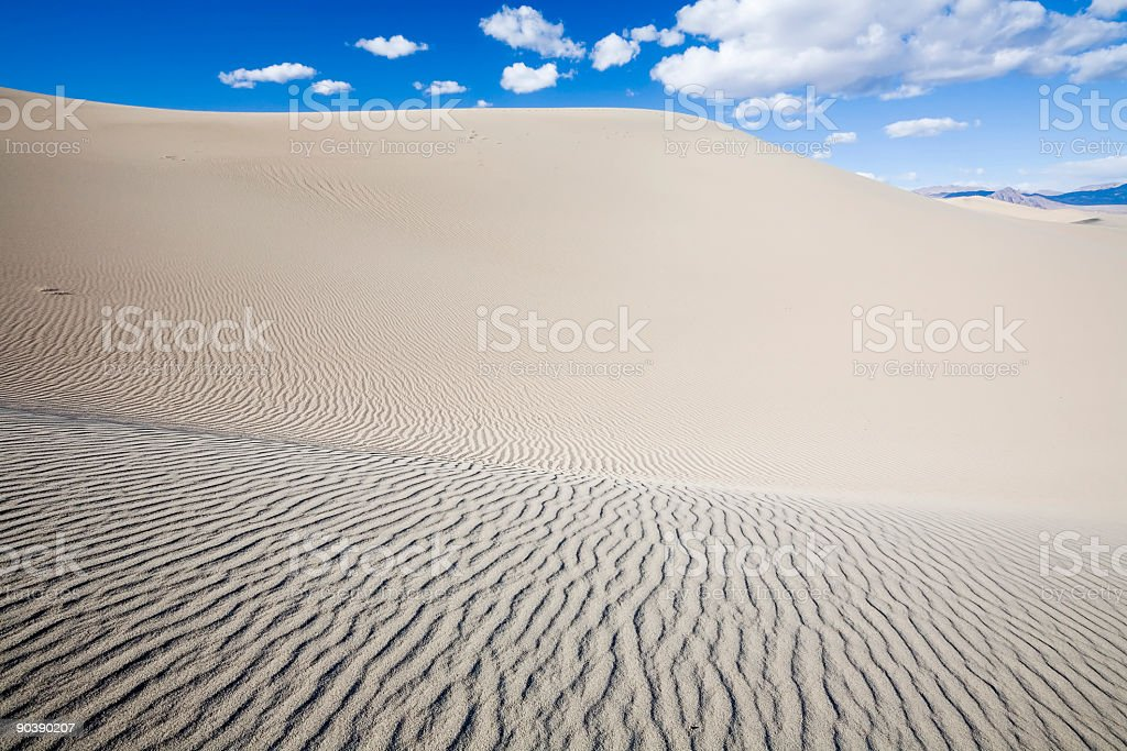 Death Valley Dunes royalty-free stock photo