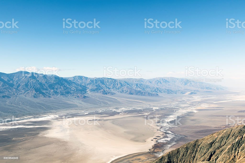 Death Valley from Dante's View. stock photo