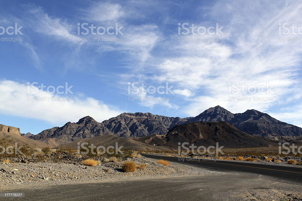 Death Valley in Nevada royalty-free stock photo