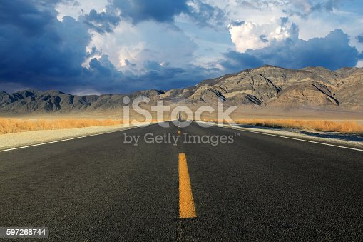 Death Valley In Nevadia Stock Photo & More Pictures of Asphalt