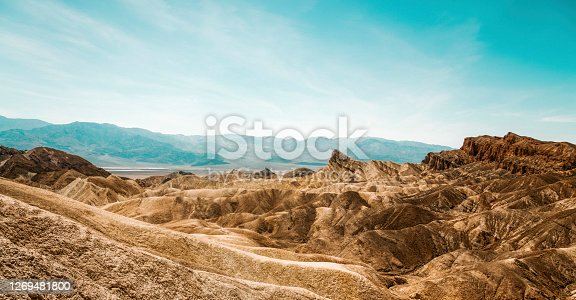 These mountains in Death Valley National Park looks like they are made of gold.
