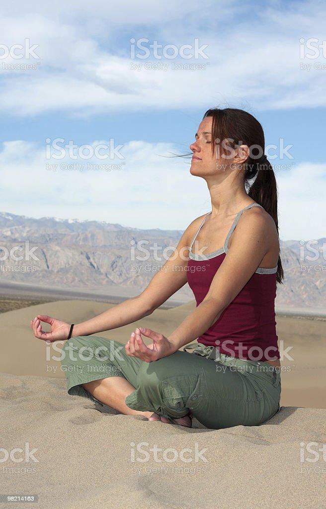 Meditazione della Valle della Morte foto stock royalty-free