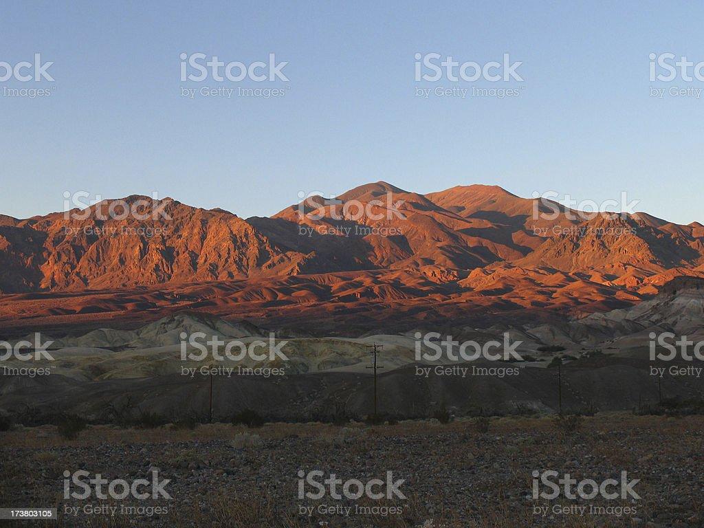 Death valley mountain range - sunset royalty-free stock photo