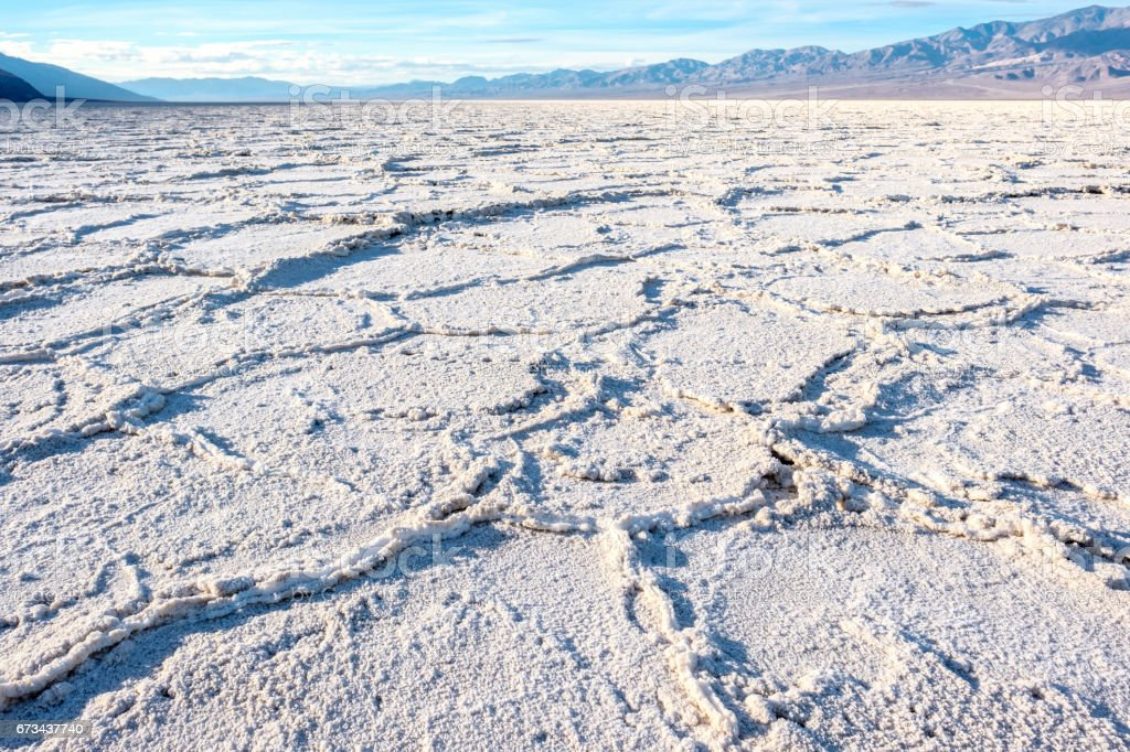 Death Valley National Park - Badwater Basin stock photo