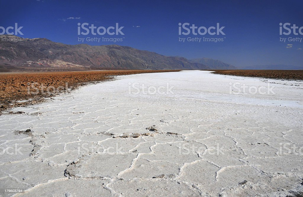 Death Valley National Park, California, USA: Badwater Basin stock photo