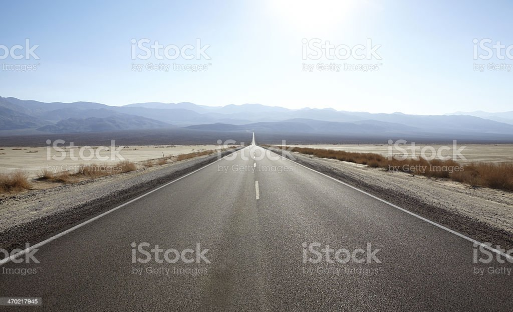 Death Valley National Park : Highway 190, Panamint stock photo