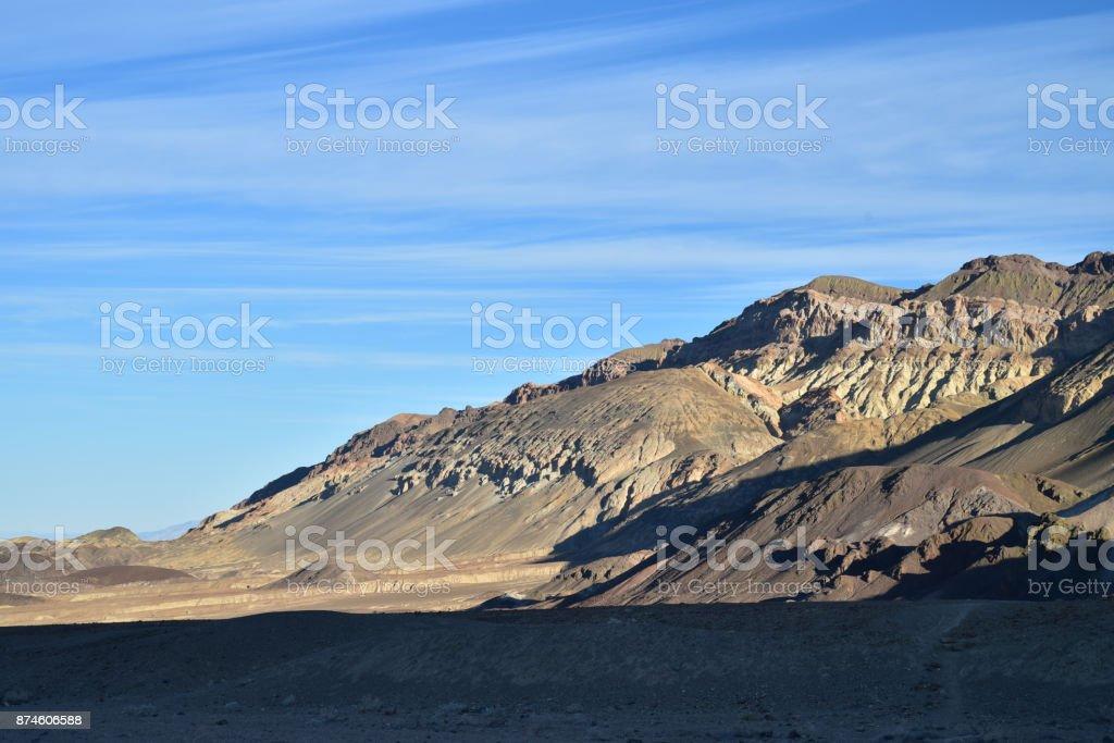 Death Valley National Park landscape Furnace Creek California stock photo
