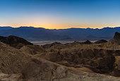 A view of Zabriskie Point in Death Valley, CA