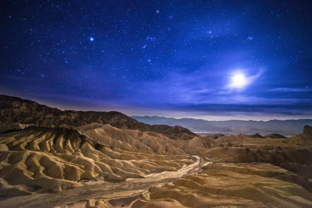 Death Valley Desert, Public Park, Rock - Object, Sunset, California, stars mojave desert stock pictures, royalty-free photos & images